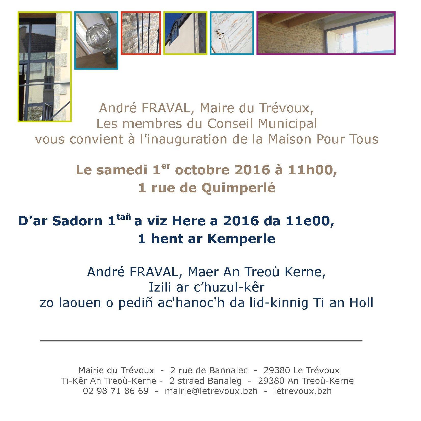 Copie De Invitation Inauguration Mpt2 Mairie Le Trevoux